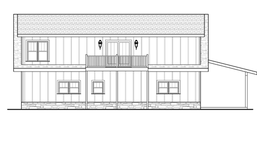 Rear Elevation image of KIPLING House Plan