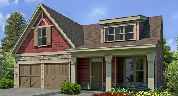 Jannis vann 39 s house plan resource provides consumers with for Empty nester home designs