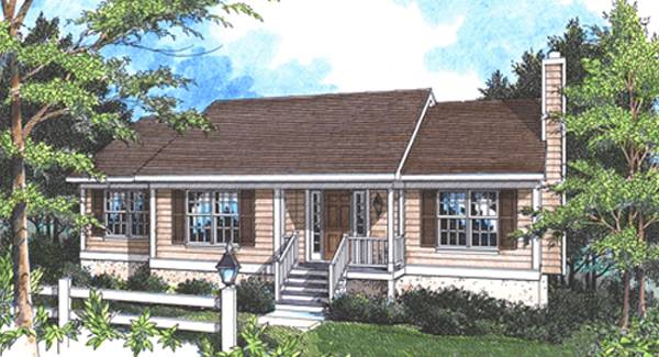 Rendering image of DICKEN II-B House Plan