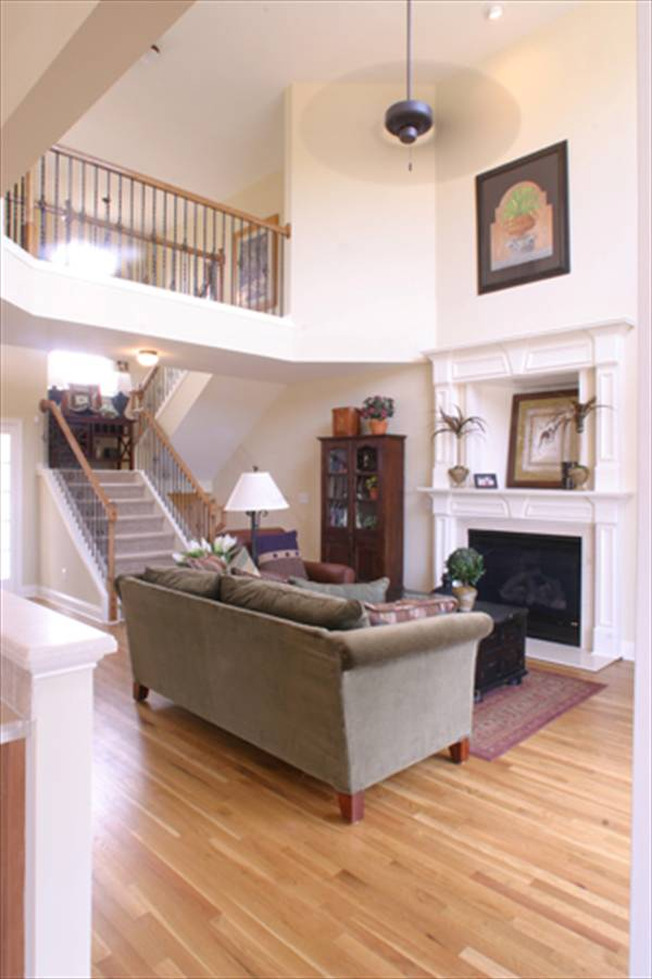 Living Area w/ Stairs by DFD House Plans