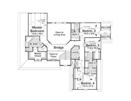 second floor image of mcintosh iii house plan - Mcintosh House Plans