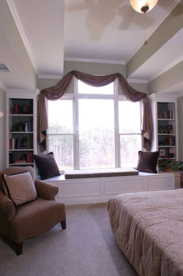 Master Bedroom Window Seat by DFD House Plans
