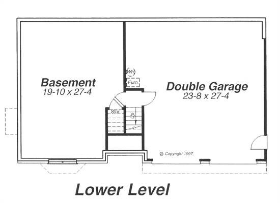 Lower Level image of ST. JAMES House Plan