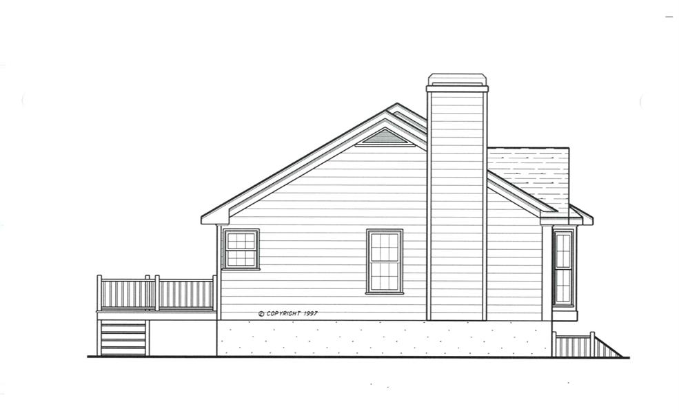 Left Elevation image of ST. JAMES House Plan