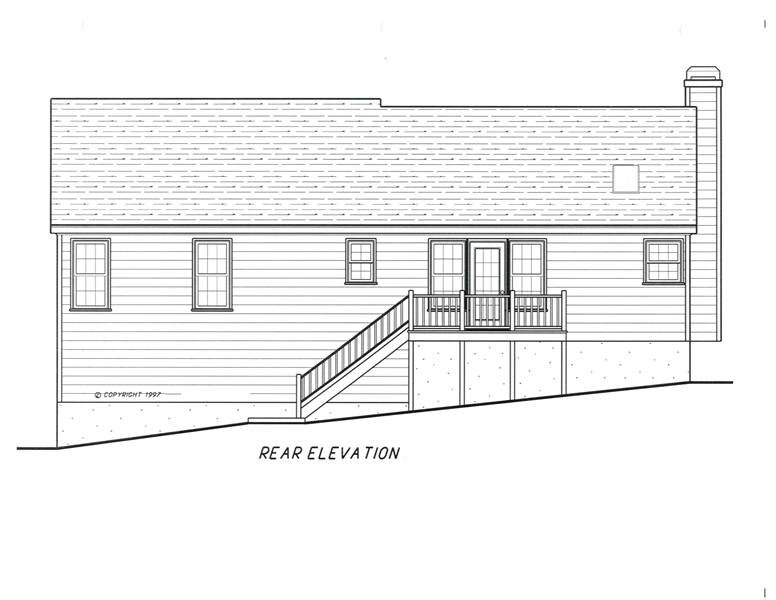 Rear Elevation image of ST. JAMES House Plan