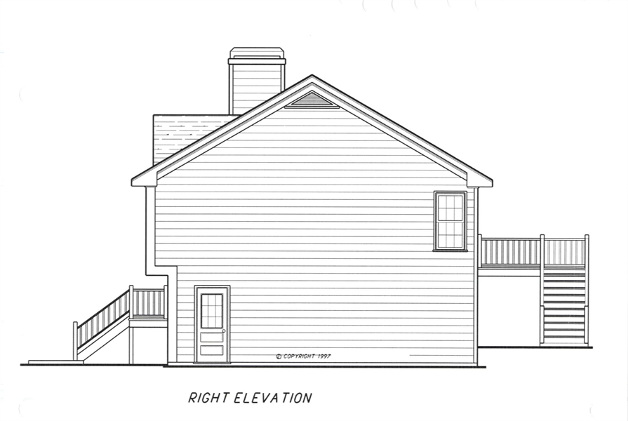 Right Elevation image of ST. JAMES House Plan