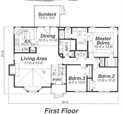 Floor Plan image of ST. JAMES House Plan