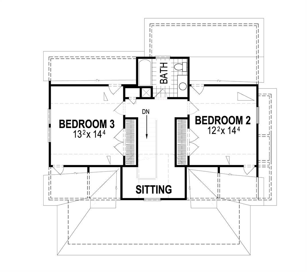 Second Floor image of Butler II House Plan