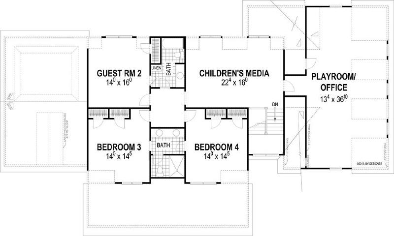 Second Floor Plan image of Farmstead House Plan