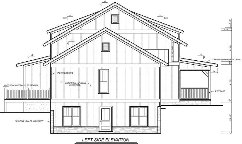 Left Side Elevation image of Farmstead House Plan