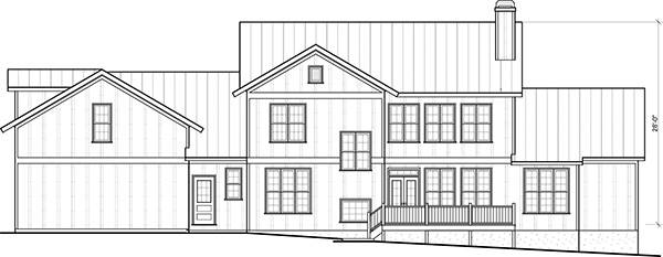 Rear View image of Farmstead House Plan