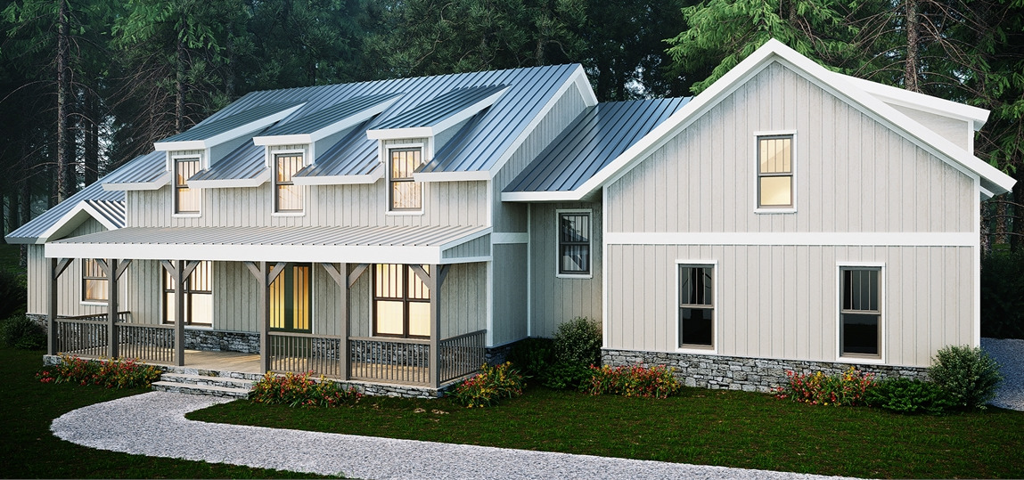 Front View image of Farmstead House Plan