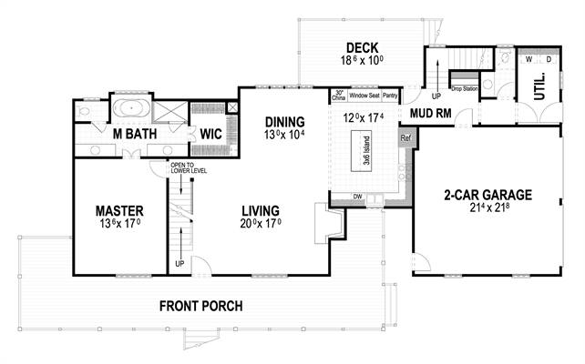 First Floor image of Countryfield II House Plan