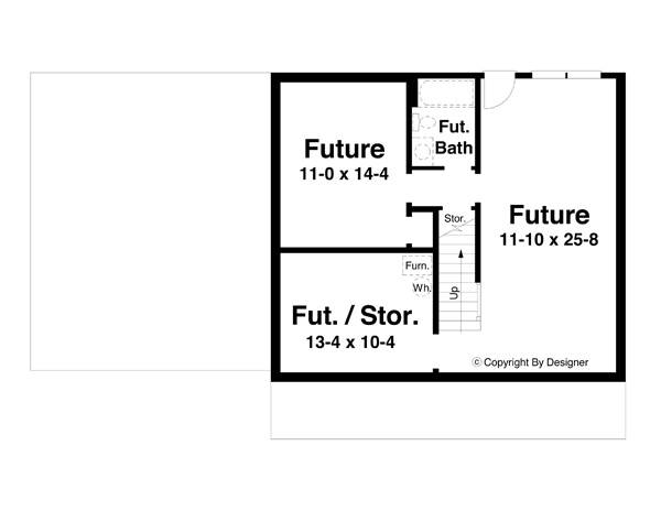Lower Level image of Morgan-B House Plan