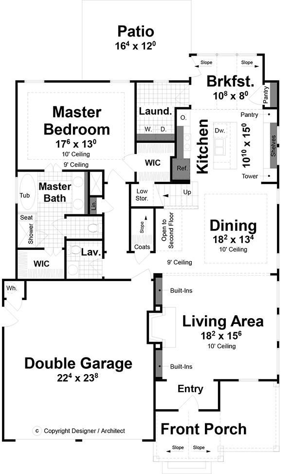 1st Floor image of Birmingham House Plan
