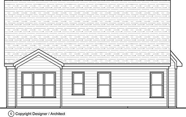 Rear View image of Birmingham House Plan