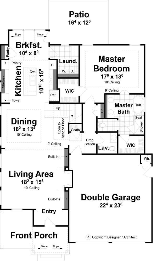 1st Floor image of Wimbly House Plan