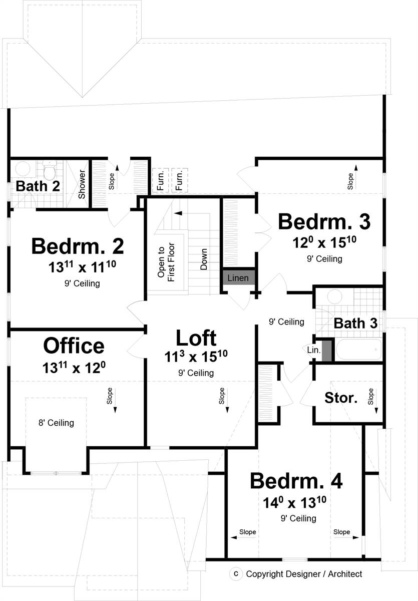 2nd Floor image of Wimbly House Plan