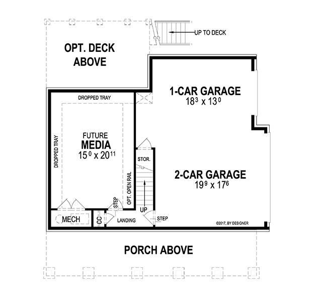 Lower Level image of Woodland II House Plan
