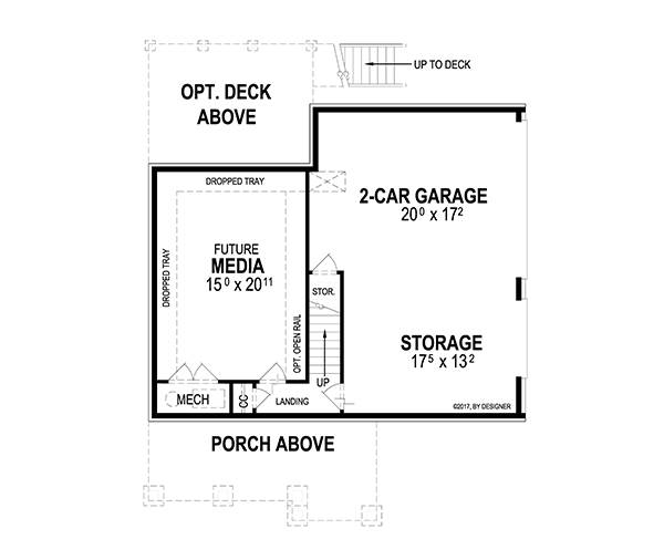 Lower Level image of Deerfield II House Plan