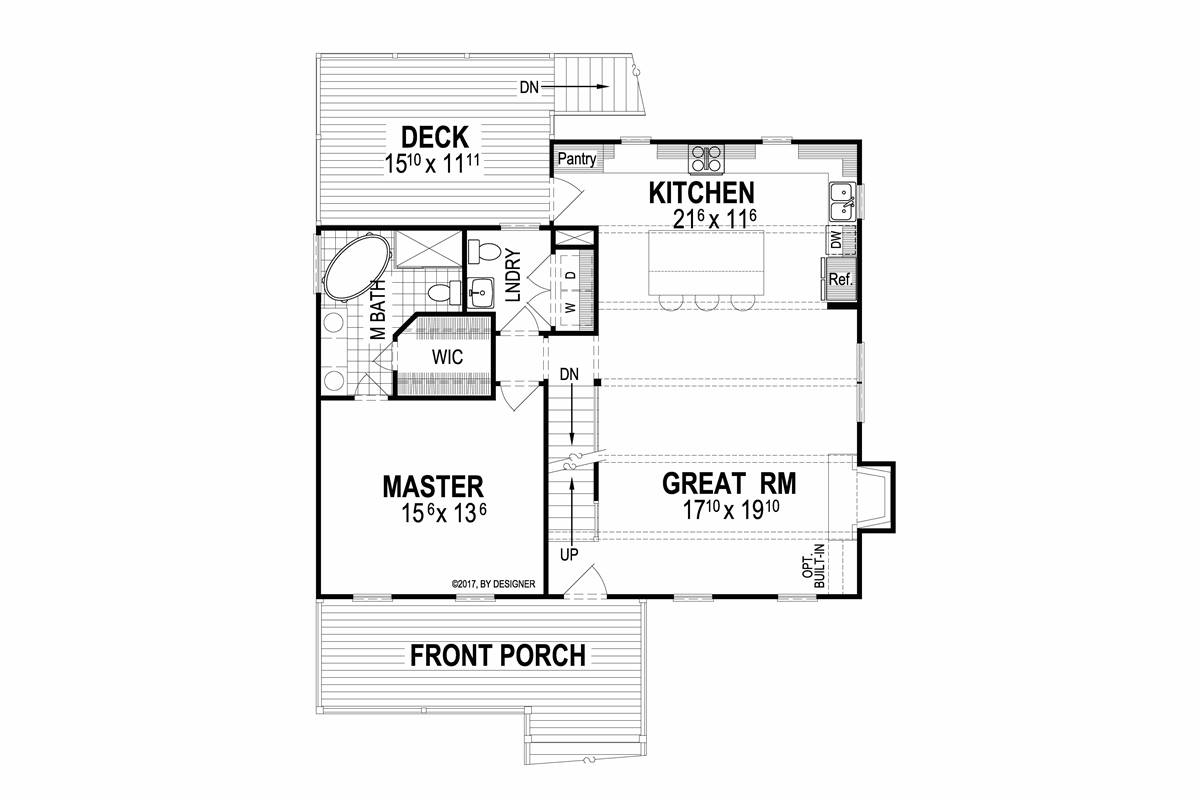 First Floor image of Deerfield II House Plan