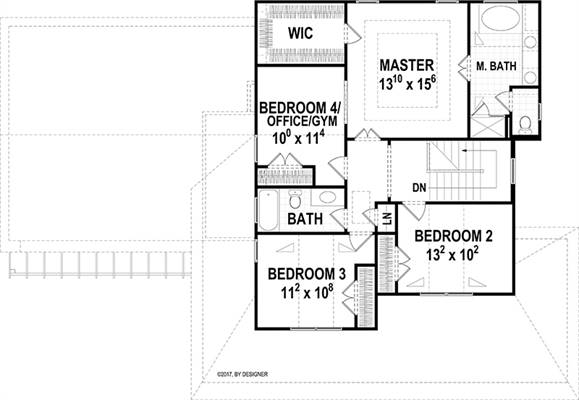 Second Floor image of Hawthorne IIC House Plan