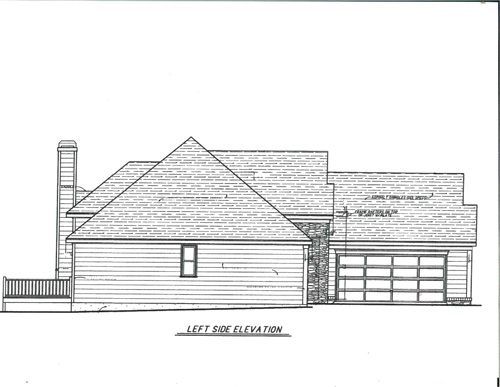 Left Elevation image of CAMELLIA-A House Plan