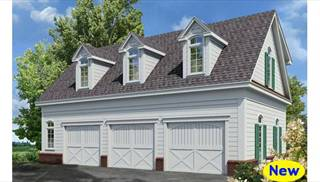 Three Car Garage Plan by DFD House Plans