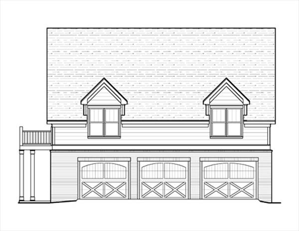 Right Elevation image of HANSON V House Plan