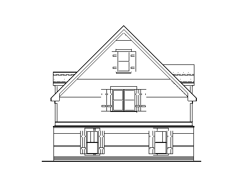 Rear Elevation image of HANSON V House Plan
