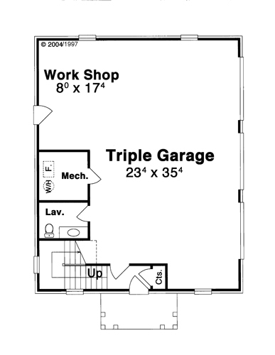 Garage w/ Apt. Above image of HANSON V House Plan