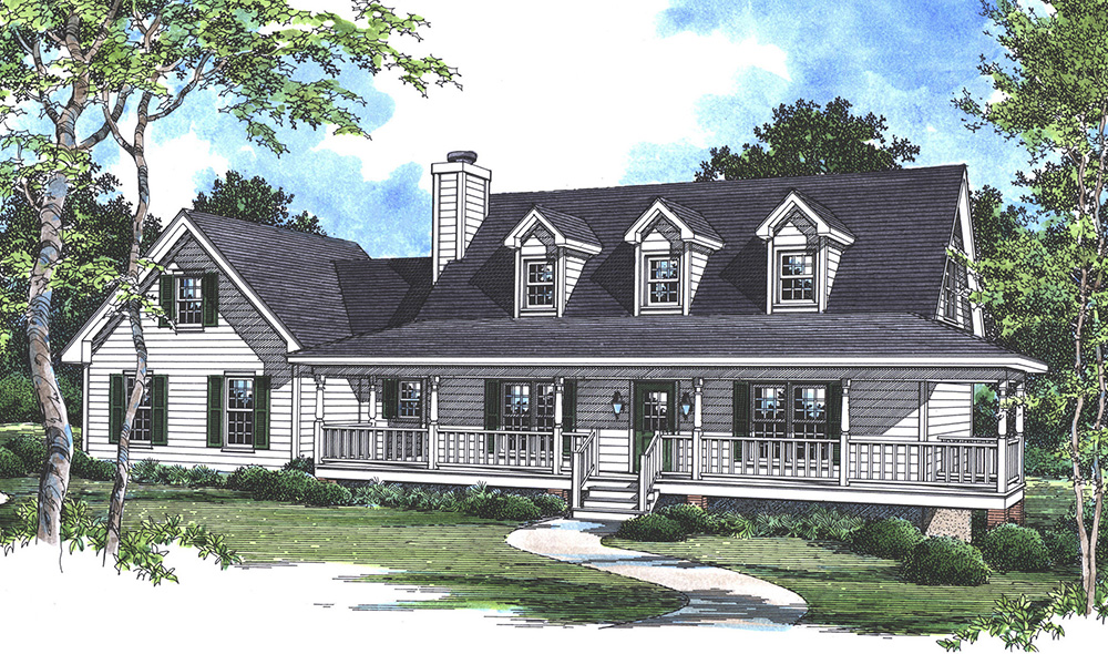 Rendering image of Countryfield II House Plan
