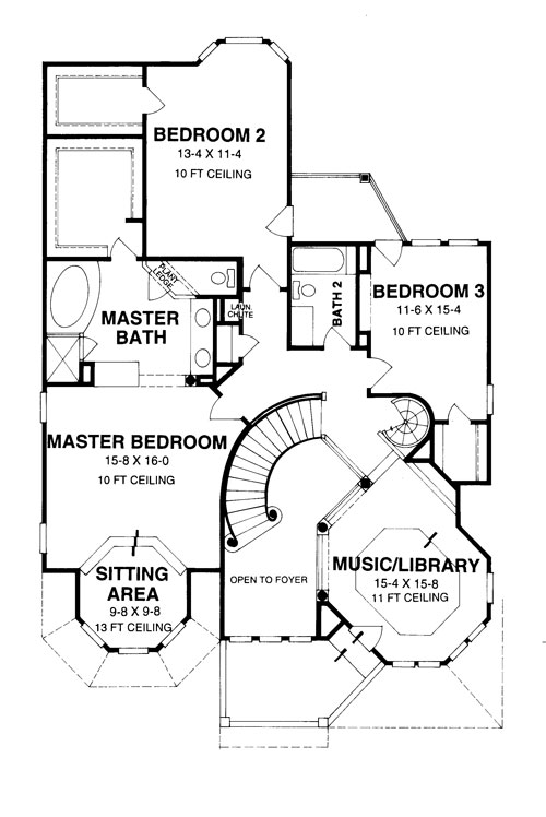 Victorian House Plan with 3 Bedrooms and 2.5 Baths - Plan 8406 on ranch house plans for seniors, house designs for seniors, insurance for seniors, small house plans for seniors, bathroom design for seniors,