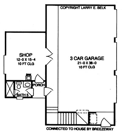 detached garage floor plans farm house house plan with 4 bedrooms and 5 5 baths plan 17288