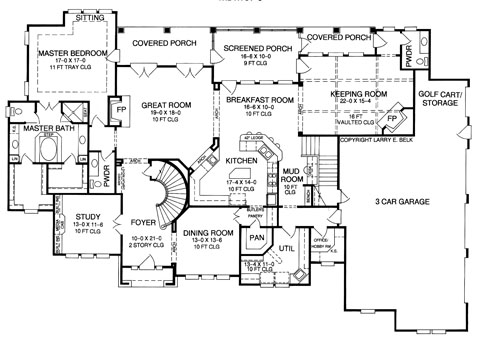 French Country House Plan with 4 Bedrooms and 35 Baths Plan 8383