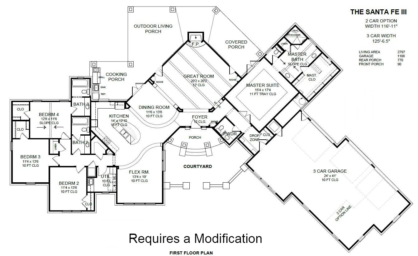 4 Bedroom Option by DFD House Plans