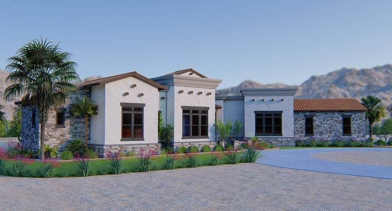 Front 3 by DFD House Plans