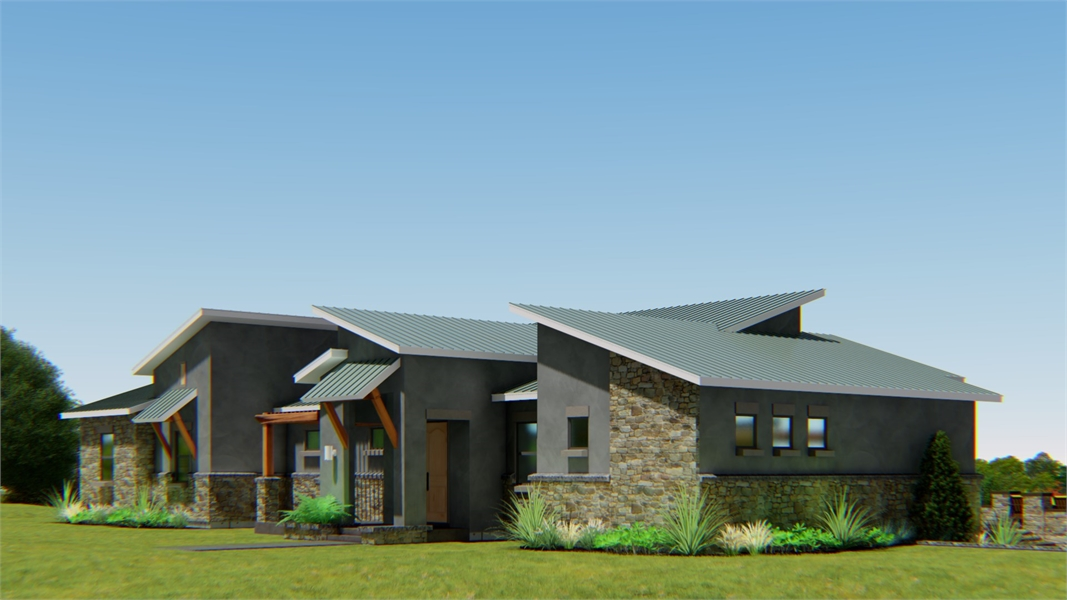 FRONT RIGHT by DFD House Plans