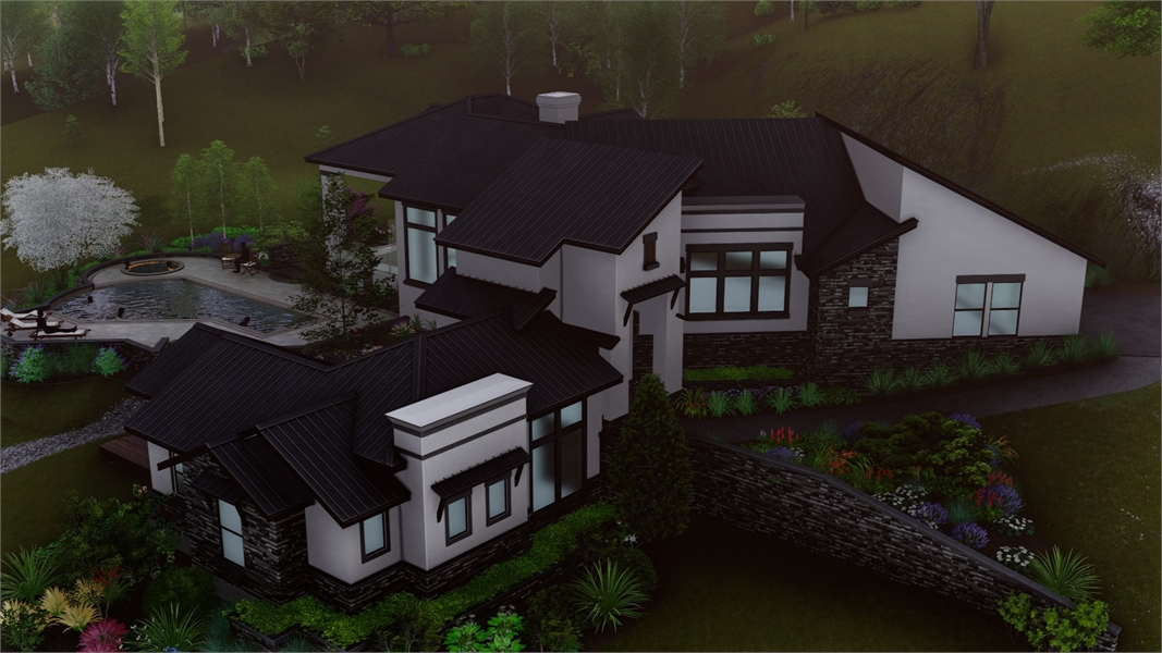 Aerial by DFD House Plans
