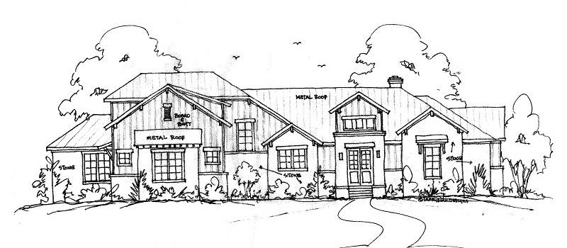 FRONT SKETCH by DFD House Plans
