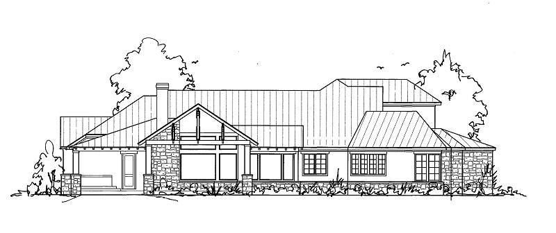 Rear Sketch by DFD House Plans