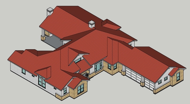 Aerial 2 by DFD House Plans
