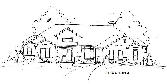 ELEVATION A by DFD House Plans