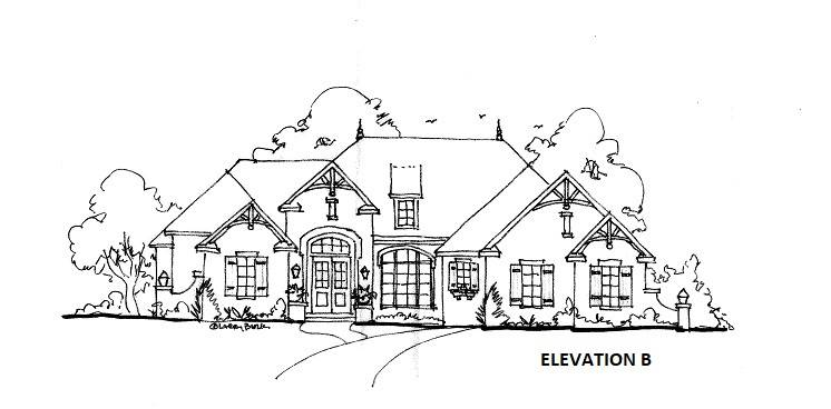 ELEVATION B by DFD House Plans