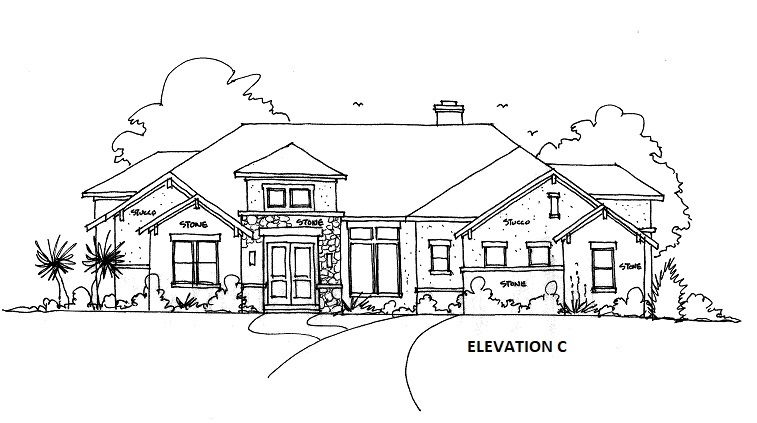 ELEVATION C by DFD House Plans