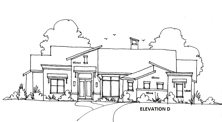 ELEVATION D by DFD House Plans