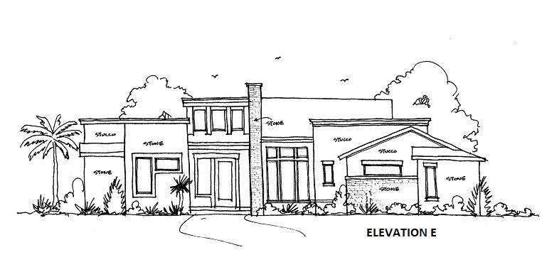 ELEVATION E by DFD House Plans
