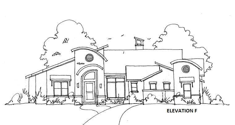 ELEVATION F by DFD House Plans