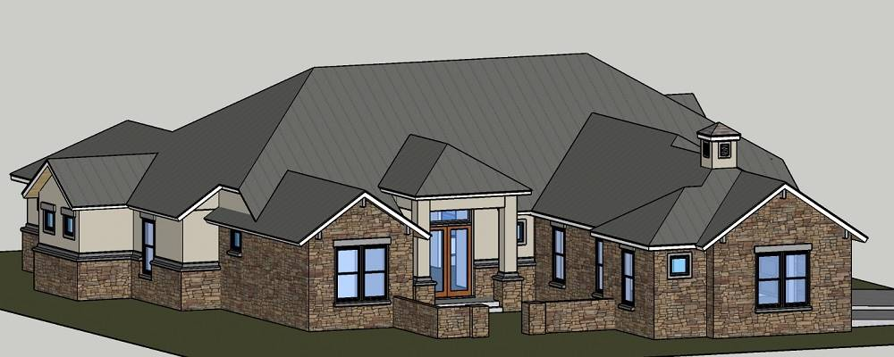 FRONT LEFT image of Rose Hill House Plan