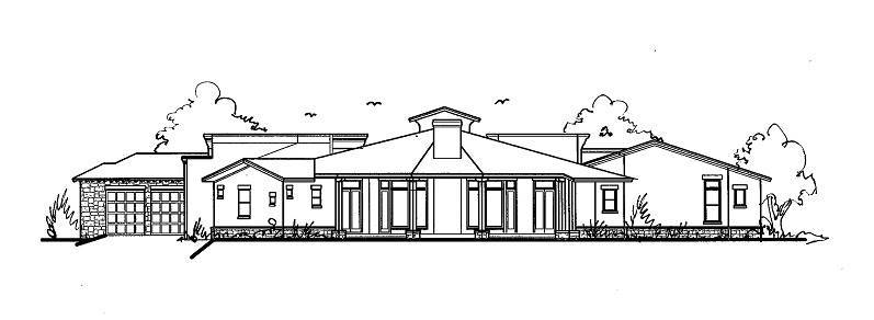 Rear View image of THE SCOTTSDALE - R House Plan